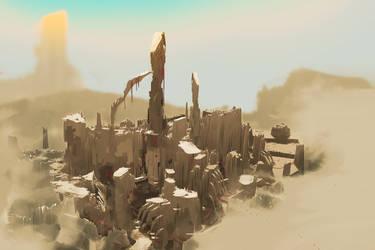 Desert City (30min. spitpaint)