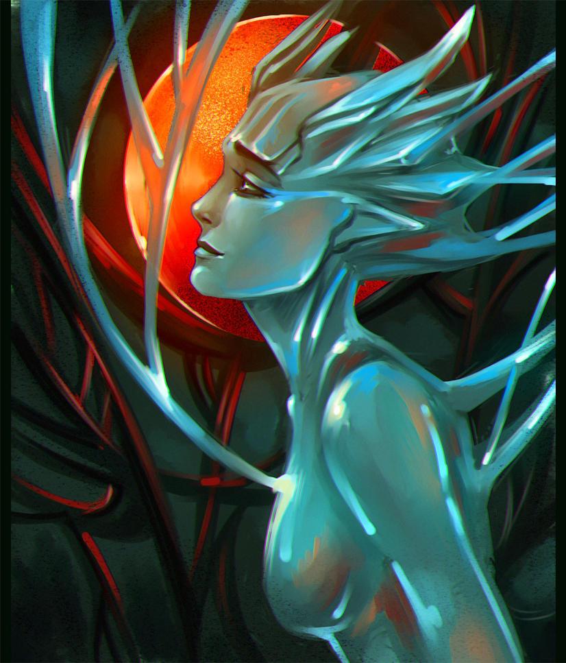 Red moon by malkesta