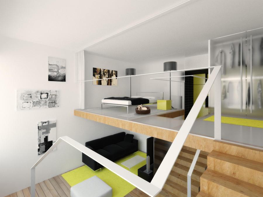 Mini lofts interiors_loft1 by Antioksidantas