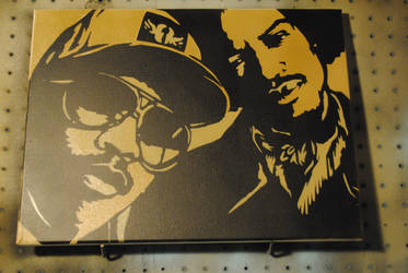 OutKast / 12 x 18 / Spraypaint on Canvas by Joshfryguy