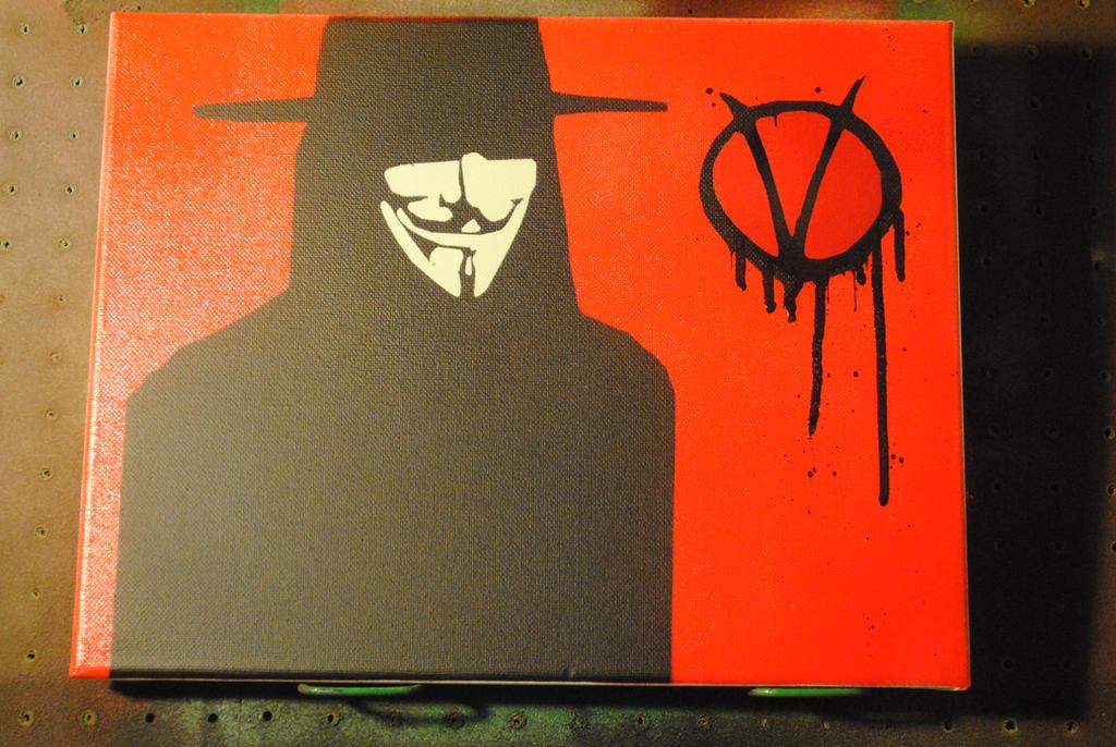 vendetta 11 x 14 spraypaint on canvas by joshfryguy on deviantart. Black Bedroom Furniture Sets. Home Design Ideas