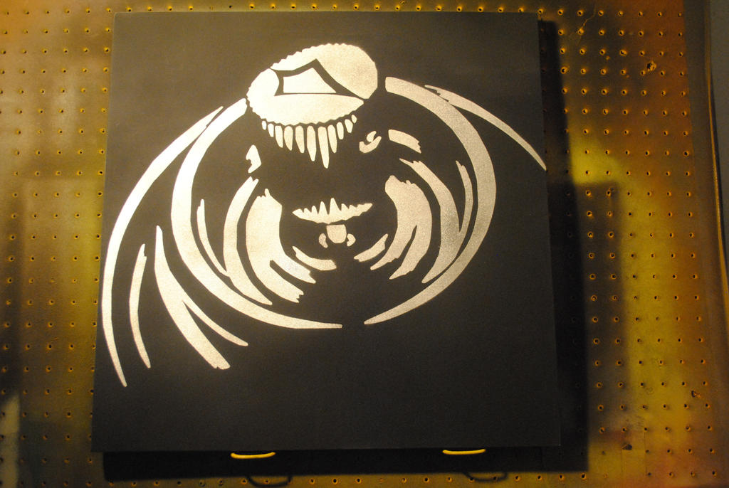 spray can 20 x 20 chrome spraypaint on canvas by. Black Bedroom Furniture Sets. Home Design Ideas