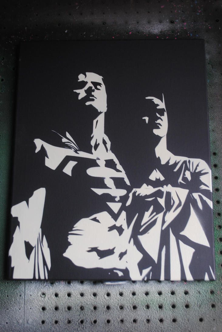Superman Spray Paint Art