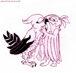 Delightful kiss.