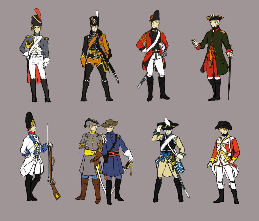 Hetalia: Historical Uniforms by seemo