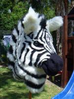 Zebra Mask ON AUCTION by RiiThePup