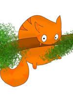 Fat cat having trouble *digital version*