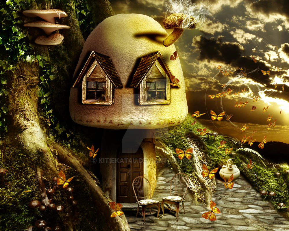 Mushroom House by kitiekat4U