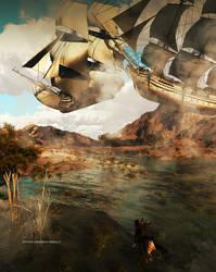 Skyship Race by kitiekat4U
