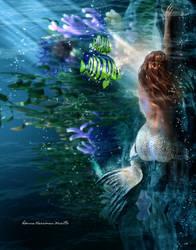Sleeping Mermaid by kitiekat4U