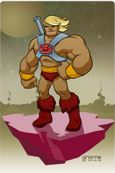 He-Man: The Most Powerful Man in the Universe by gnome-oo
