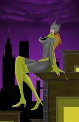 Batgirl painting by Korslund