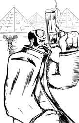 Hellboy sketch attempt 2