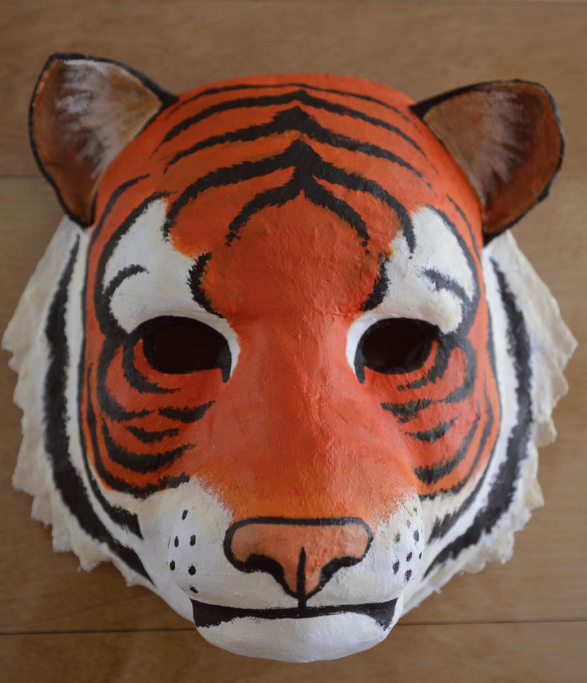 How To Draw Mask Tiger