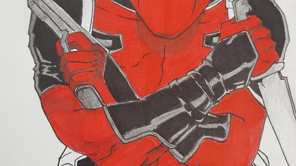 DEADPOOL! RED SUIT HERO! by stephengabilo