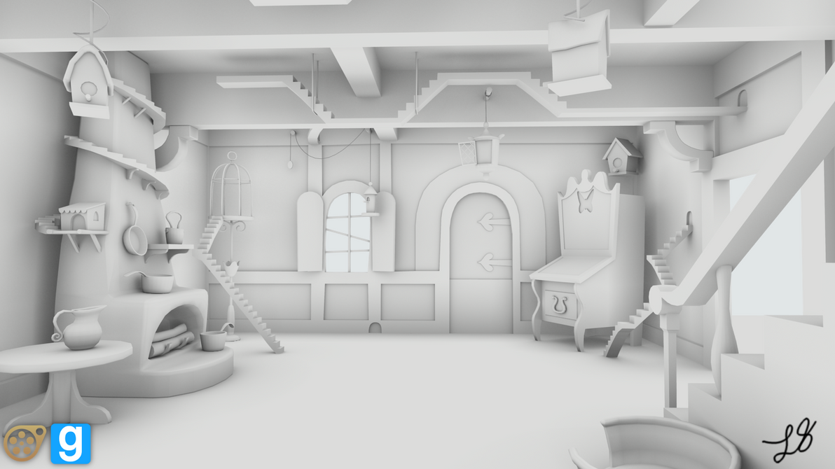 WIP] Fluttershys Cottage Interior (Front) by discopears on ...