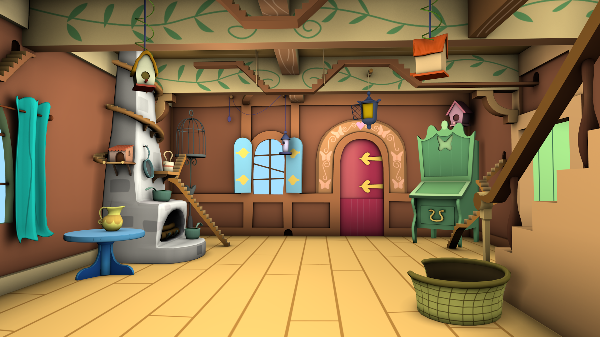 Old Fluttershy S Cottage Game Models Front By