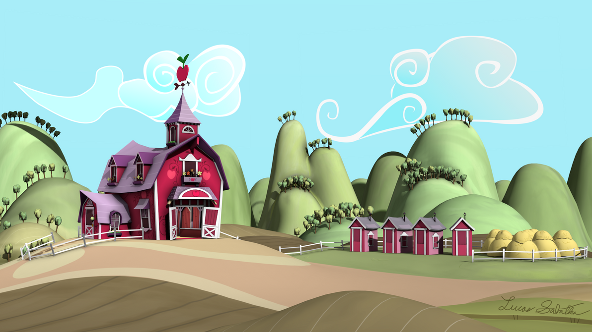 Sweet Apple Acres - Game Models by discopears