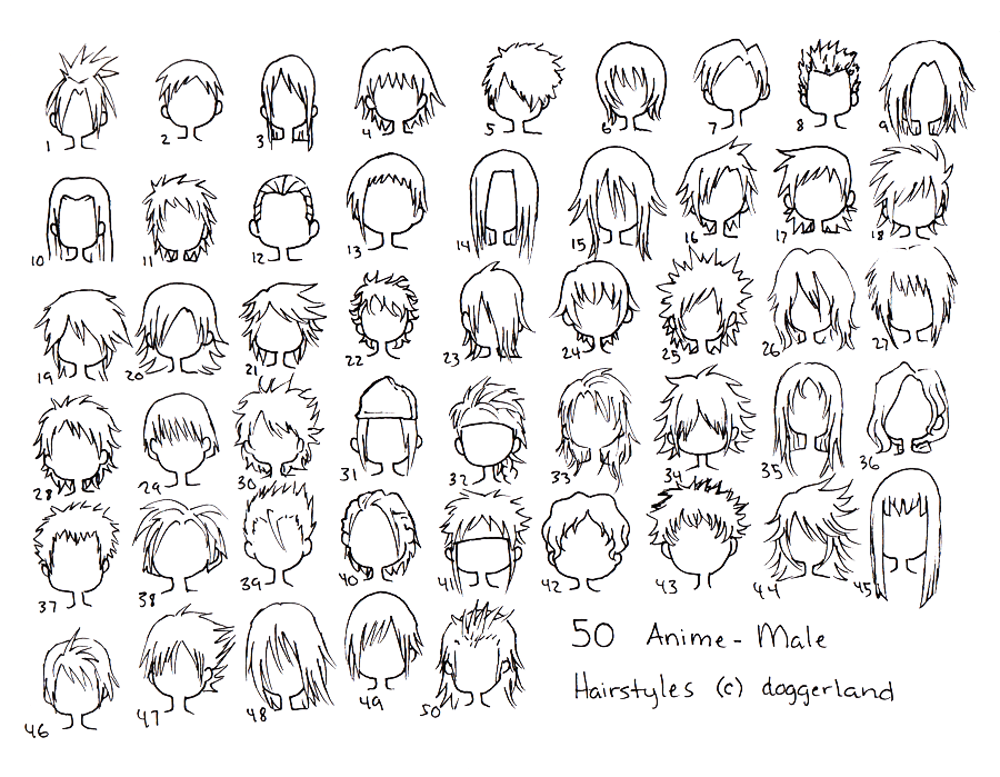 Anime Male Hair Styles By Totamikun On DeviantArt - Anime hairstyle guys
