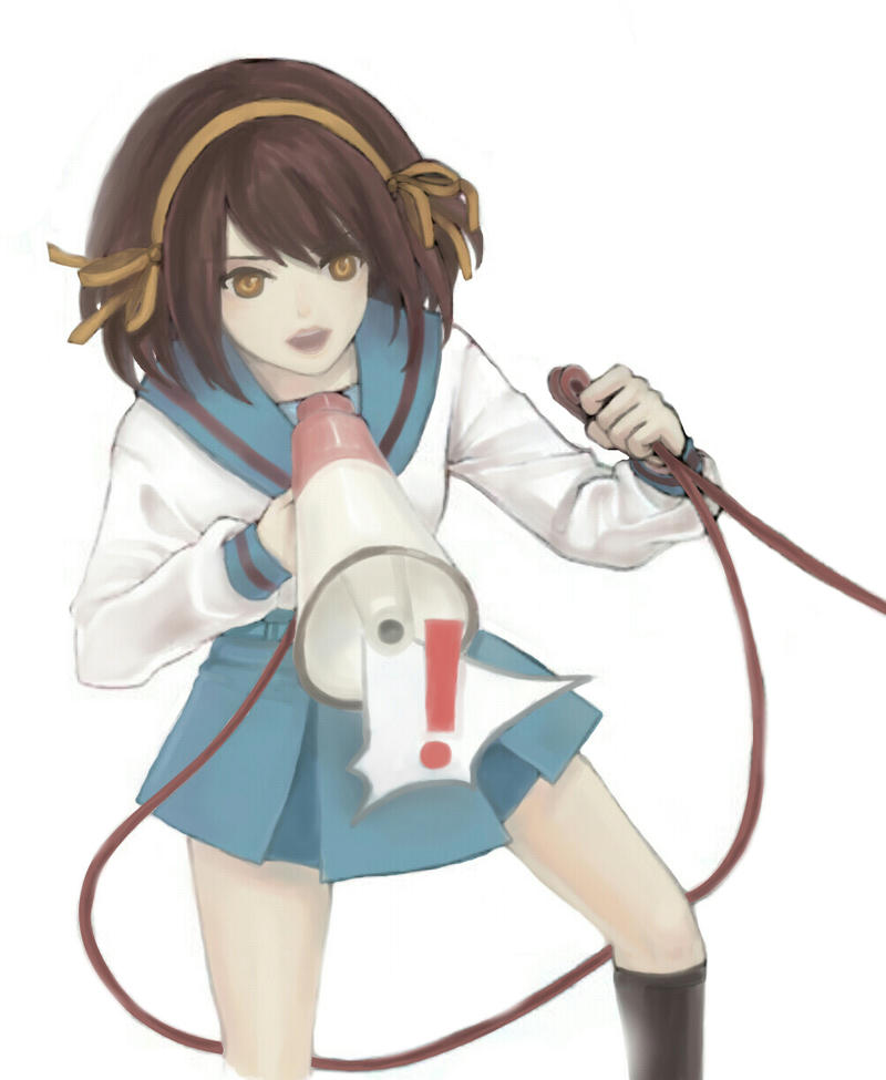 Haruhi Suzumiya by akatsukiRei