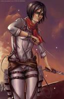 Across the Sky (Mikasa) by noero