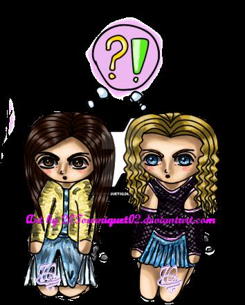 Sammy and Emerlia chibis by 20Tourniquet02