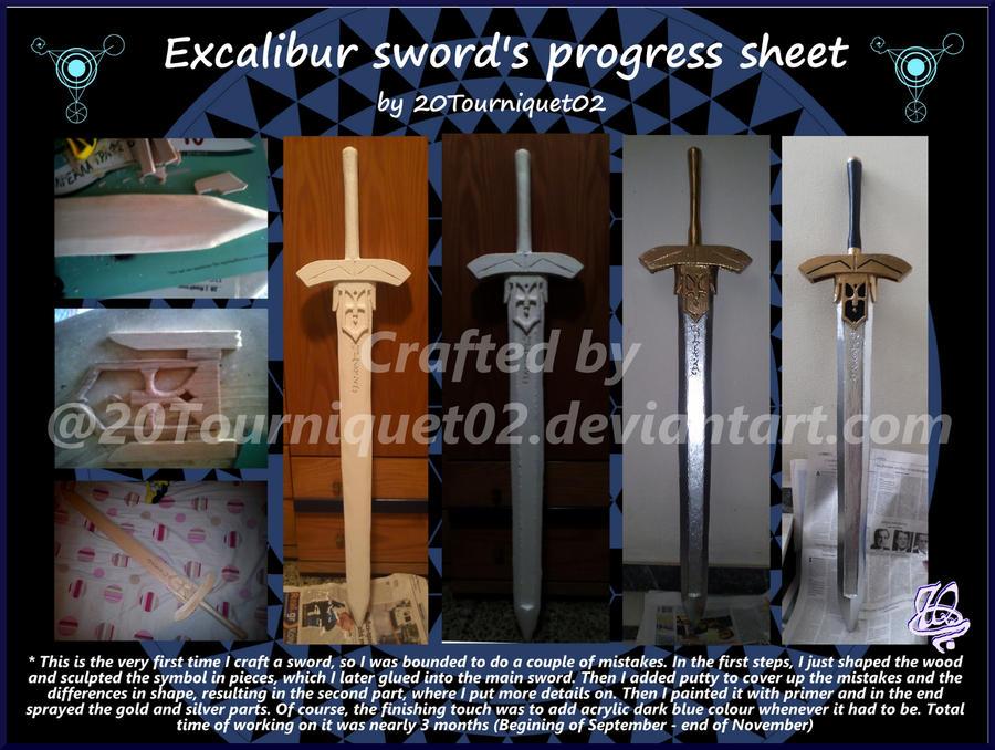 Excalibur's sword progress sheet by 20Tourniquet02