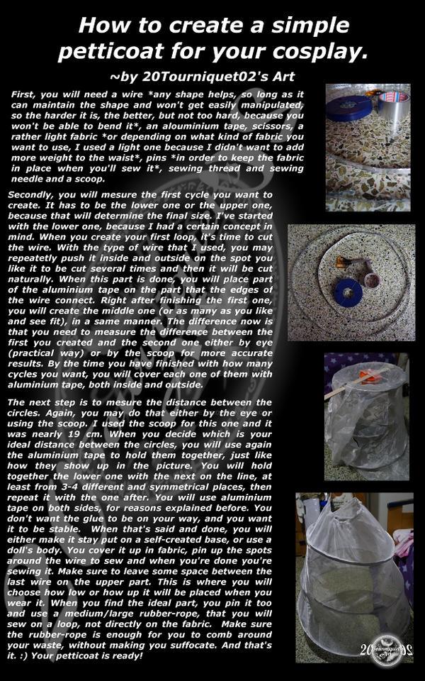 Petticoat Tutorial (Simple) by 20Tourniquet02