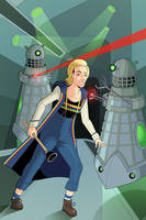Doctor Who - 13th Doctor vs the Daleks by OwenOak95