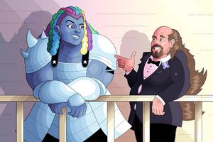 Steven Universe - Bismuth and Greg by OwenOak95