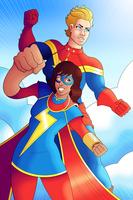 Ms. Marvel and Captain Marvel by OwenOak95