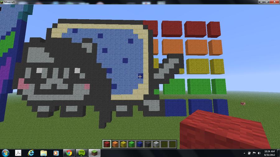 Skrillex Nyan Cat Pixel Art! by tristypie on DeviantArt