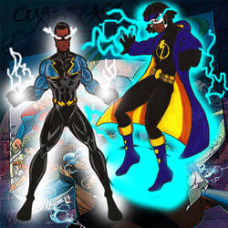 Black lighting and Static by RWhitney75