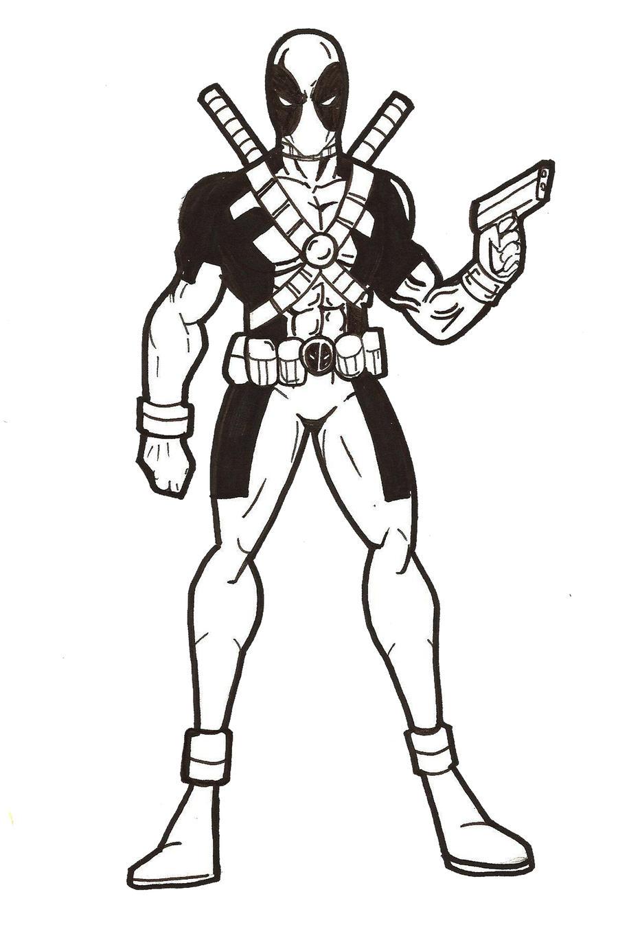 Marvel Deadpool Ausmalbilder Gratis: Deadpool Preview By RWhitney75 On DeviantArt