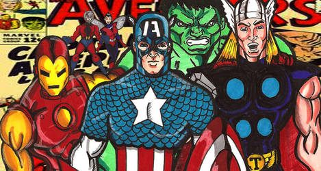classic Avengers by RWhitney75