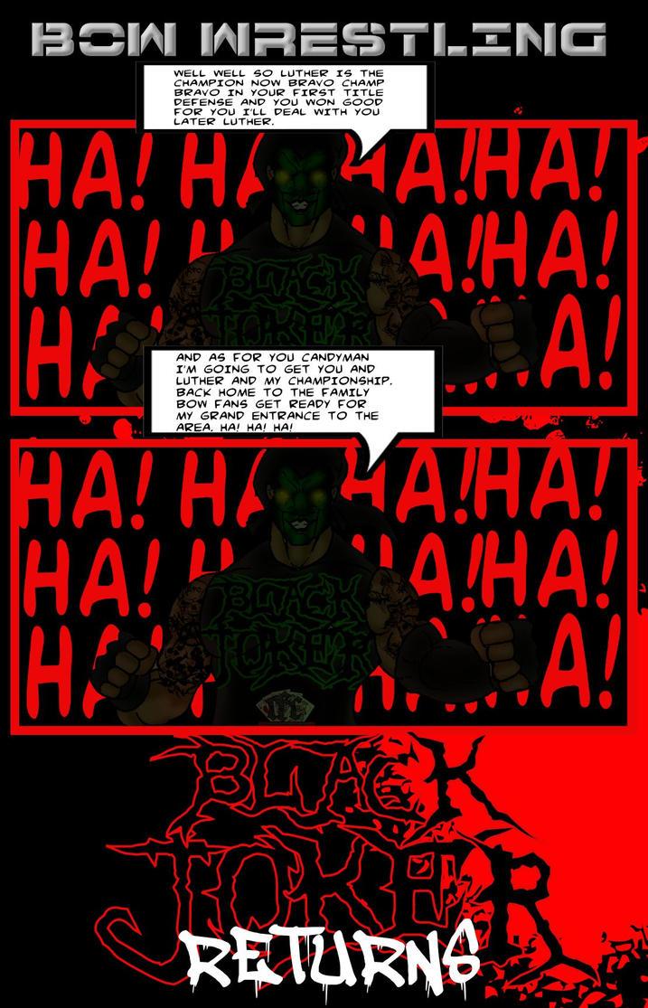 BOW Wrestling Black Joker returns by RWhitney75