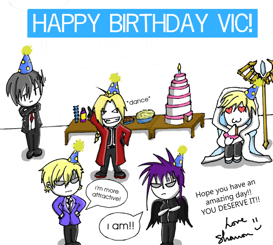 Birthday Card For Vic Mignogna By Anime Girl 95 On Deviantart