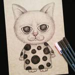 Dot cat by LAIliklik