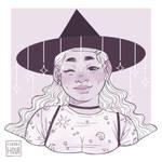Monochrome Stars Witch