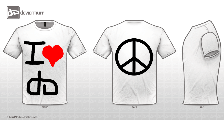 I Heart dA T-Shirt Design by tifafenrir09