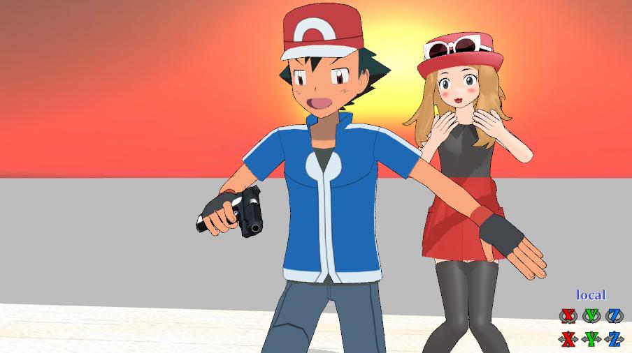 Ash Save To Serena 2 By Satoshi Vampire190 On Deviantart