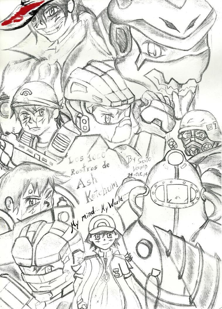 Los 1000 rostros de Ash Ketchum by Satoshi-Vampire190 on DeviantArt