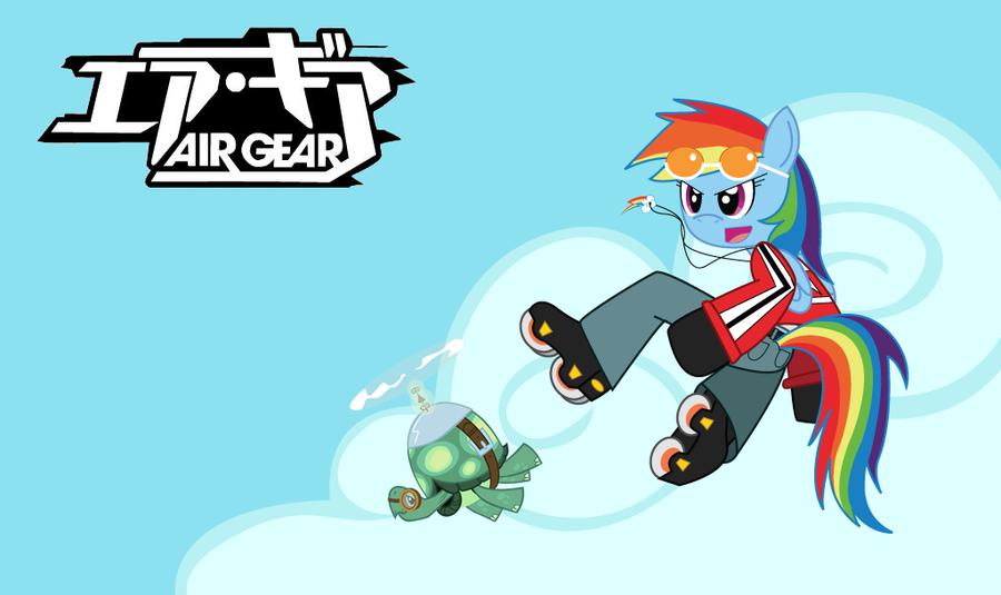 Air Gear - Rainbow Dash by Sonic-chaos