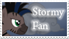 Stormy Fan Stamp by Sonic-chaos