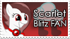 Scarlet Blitz Fan Stamp by Sonic-chaos