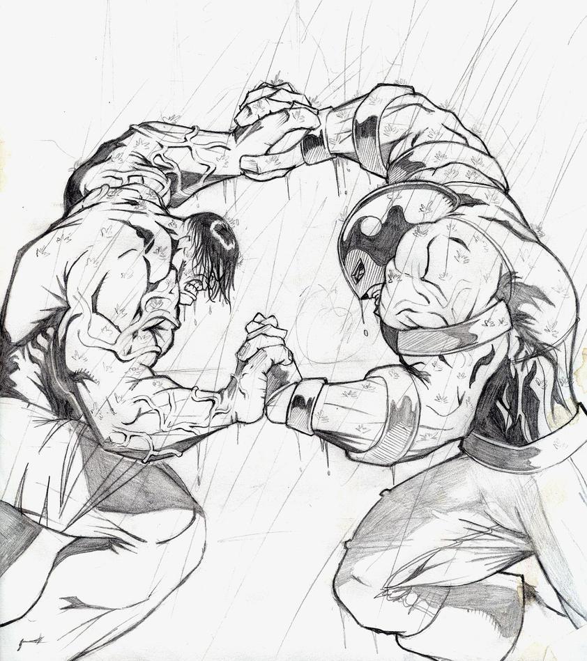 Hulk v. Juggernaut 1st pencils by evaklear on DeviantArt
