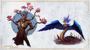 Veranium and a quetzalcoatl - Ifaisteio Odyssea