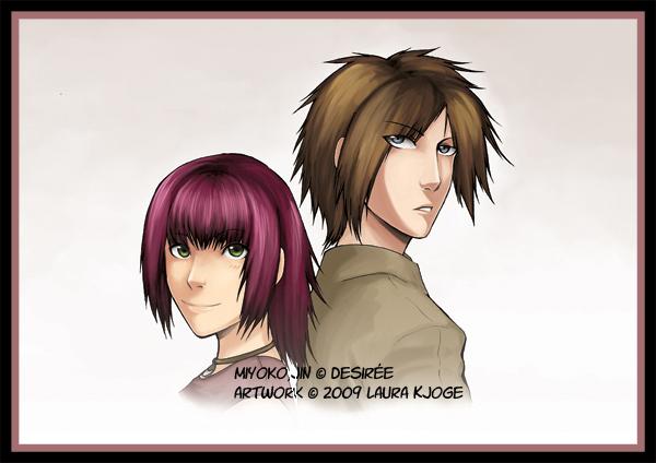 Commission - Miyoko y Jin by LauraKjoge