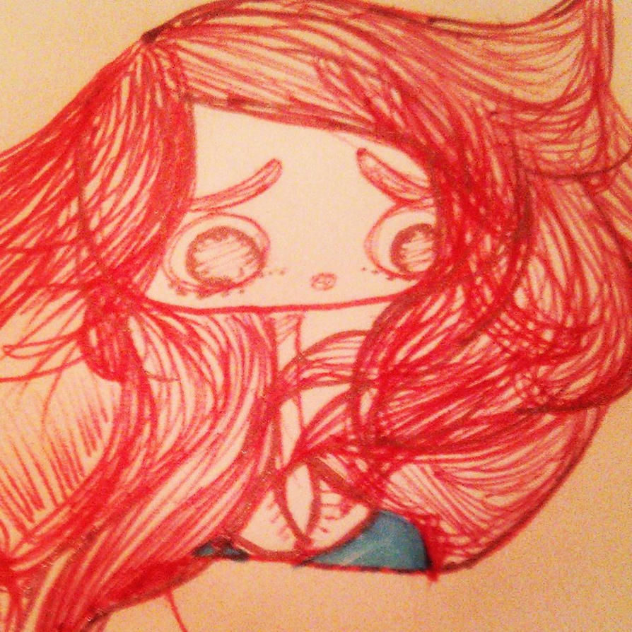 Red Sketch by NicolletteNikkiAce