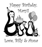 Penguin Party Mary Bday by CelestialPearl